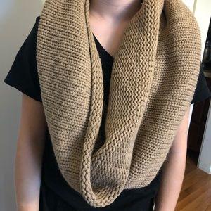 Tan infinity scarf
